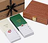 Jaques of London Playing Card Set Twin Pack Playing Cards Mahogany Cased