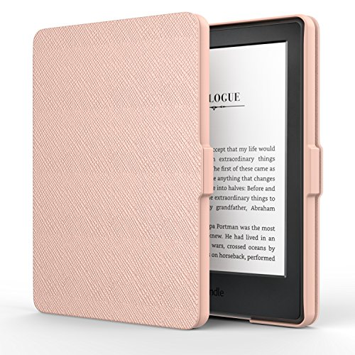 MoKo Hülle für Kindle 8 Generation - Die dünnste und leichteste Schutzhülle Smart Cover mit Auto Sleep/Wake für der Neue Amazon Kindle (8. Generation - 2016 Modell) 6 Zoll eReader, Rose Gold