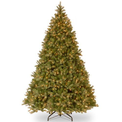 National Tree 10 Foot 'Feel-Real' Downswept Douglas Fir Tree with 1000 Clear Lights, Hinged (PEDD1-312-100)