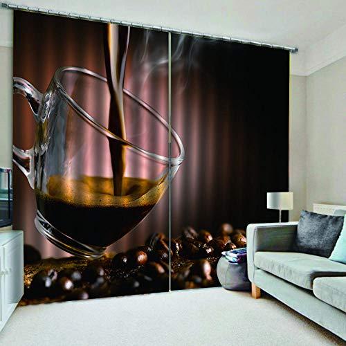 QKDSDM - Cortinas opacas para dormitorio, habitación de los niños, salón, buen vino, 167 x 183 cm