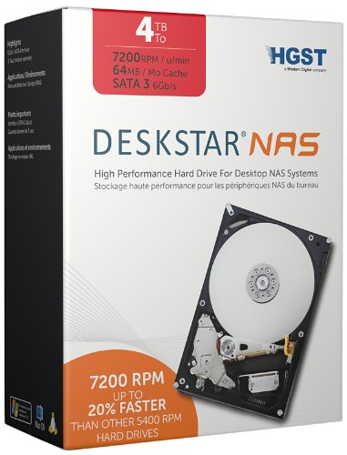 Our #5 Pick is the HGST Deskstar NAS 3.5-Inch 4TB NAS Hard Drive
