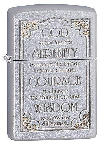 Zippo 28458 Serenity Prayer Satin Chrome