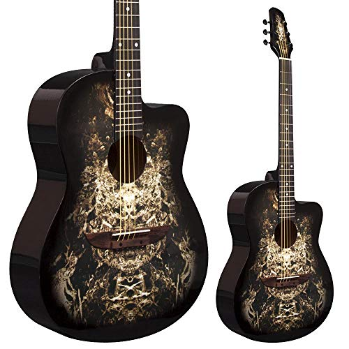 Lindo 933C 'Alien' Black Acoustic Guitar & Gigbag
