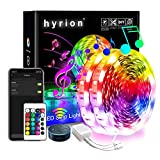 WiFi Smart Led Strip Lights 50ft, 2 Rolls of 25ft Compatible with Alexa, hyrion RGB Led Light Strips, 16 Million Colors App Controlled Sync to Music Led Lights for Bedroom