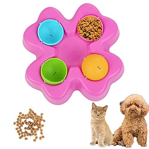 ZoneYan Juego Inteligencia Perros, Juegos Inteligencia Perros, Juguete Perros Dispensador, Juguete Perro Interactivo, Alimentador de Rompecabezas para Perros, Pet Bowl Feeder Toys