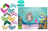 Mermaid Party Favors Pin The Tail on The Mermaid Party Game Under The Sea Party Games with 36 Reusable Tails, Mermaid Party Supplies