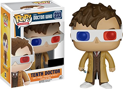 Figura Pop! Doctor Who 10th Doctor with 3D Glasses Exclusive