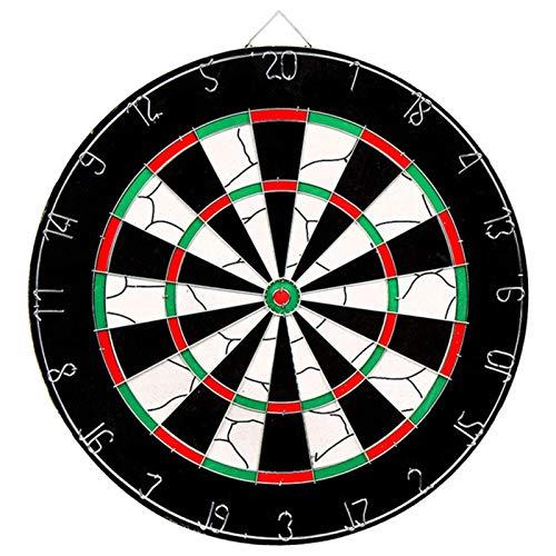 TYUXINSD Genau Safety Dart Board Set, 18-Zoll-Gummi-Dartbrett-Spiel mit 6 weichen Spitzen-Darts für Kinder und Erwachsene, Party, Büro- und Familienfreizeit, schwarz (Color : Black)