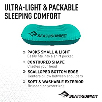Sea to Summit Aeros Ultralight Pillow Large ? Coussin de Voyage Gonflable APILULLSF Sea Foam Green