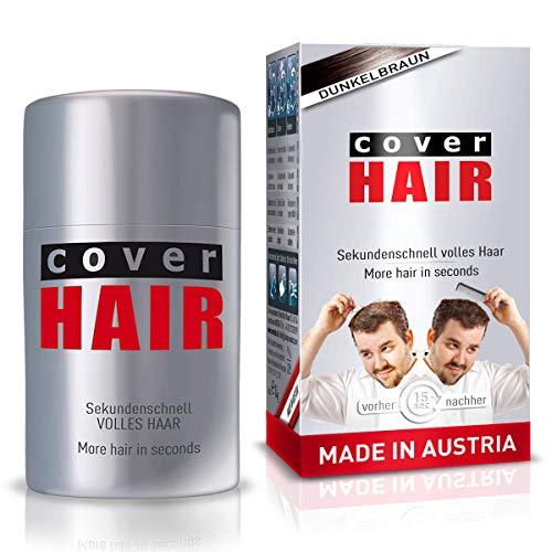 COVER HAIR Streuhaar, Schütthaar zur Haarverdichtung und Ansatzkaschierung in dunkelbraun, 14g
