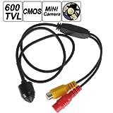 ePathChina- Mini caméra espion filaire; HD 600TVL 2 Mégapixels; caméra numérique sténopécmOS 1/3 avec objectif de 3,7mm conçu pour la sécurité domestique - PAL