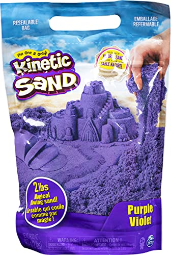 Kinetic Sand The Original Moldable Sensory Play Sand, Purple, 2 Pounds
