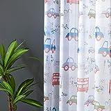 Topfinel Kinder Vorhänge mit Ösen Auto Transparent Lichtdurchlässige Kurze Gardinen Voil und Tüll für Kinderzimmer Fenster 2er Set je 160x140cm (HxB) - 2