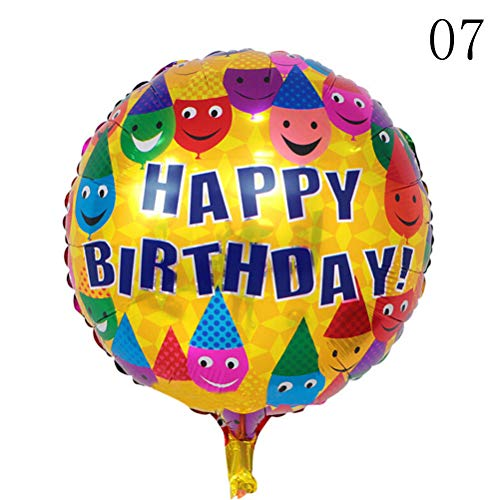 Ballonnen accessoires - Baby Shower 5 stuks ballonnen helium ballonnen Party Decoration 18 inch Happy Birthday Foil Balloons - Accessoires ballonnen Balloons Ballonnen Accessories Birthday Year Party Foil 7