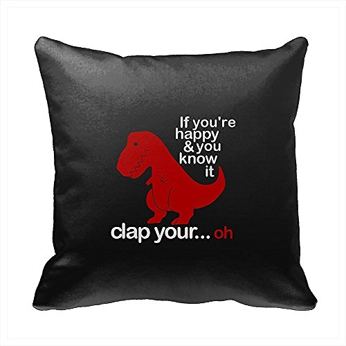 Dinosaur themed joke throw pillow decoration