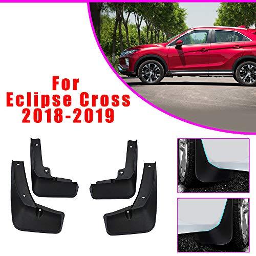 Cobear Auto Schmutzfänger Kotflügel passt für M ITSUBISHI Eclipse Cross 2018 2019 Vorne Hinten Gummi-Spritzschutz Car Styling & Karosserie-Anbauteile Schwarz 4 Stück