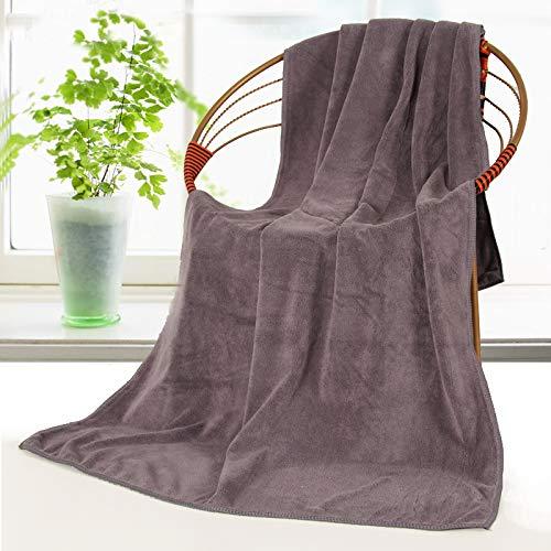 GBSHOP Badetuch Schönheitssalon Badetuch Großhandel Massage Fußbad Hotel Bettlaken für Erwachsene zu Verdickung von Handtüchern erhöhen Superabsorber, grau mittlere Dicke, 140x70cm