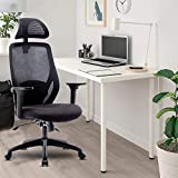 Merax Ergonomic Office Chair Mesh Chair Gaming Office Chair with Adjustable Headrest and Armrest - Home Office Chair with Tilt Function and Position Lock (Black)…
