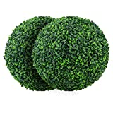 Sunnyglade 2 PCS 15.7 inch 4 Layers Artificial Plant Topiary Ball Faux Boxwood Decorative Balls for...