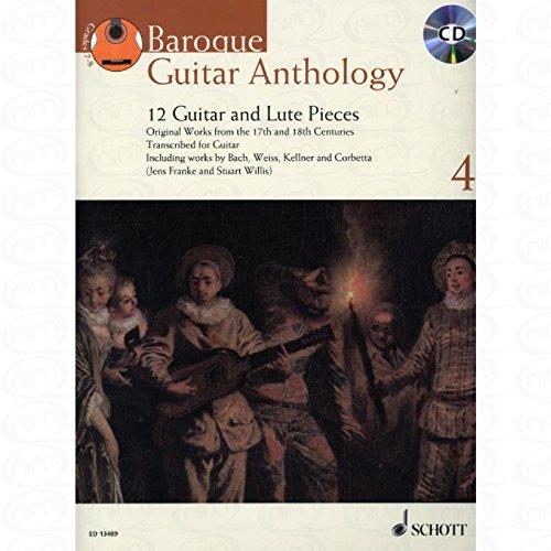 Baroque Guitar Anthology 4–Arreglados para guitarra–con CD [de la fragancia/Alemán]