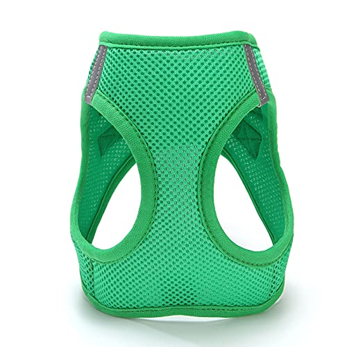 ANQIN Dog Harness - All Weather Mesh, Step in Vest Harness for Small and Medium Dogs_Green_L