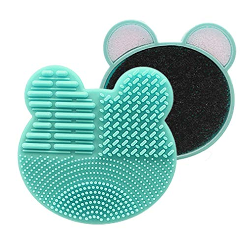 Nsdsb Lovely Brush Cleaner Lavage Brush Pad Tapis De Nettoyage Maquillage Brush Cleaner Green