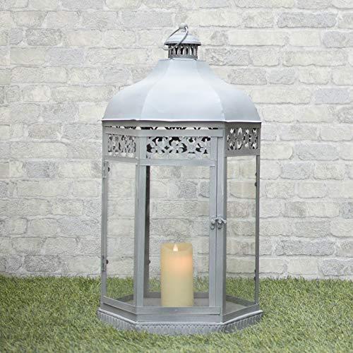 Grote lantaarn voor binnen en buiten, ijzer, 77 cm.