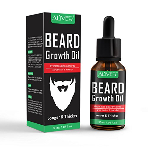 Beard Oil for Men - All Natural Beard Growth Oil for Mustache & Goatee, Leave in Conditioner Softener Facial Hair Care Product for Fuller and Thicker Beard 1.06 Fl Oz 30ml