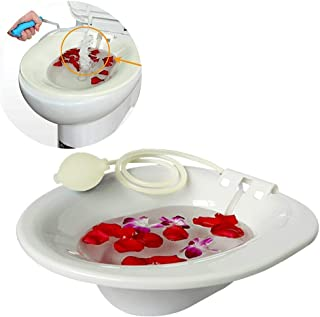 Sitz Bath Hip Bath Tub Flusher Bath Basin Fumigation Medical Grade Seatz Bath for Pregnant Women Hemorrhoids Patients on The Toilet Hip Bath tub & Flusher