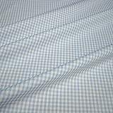 Stoff am Stück Stoff Baumwolle Vichy Karo hellblau weiß