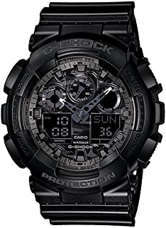 G-SHOCK Men's Year-Round Analog-Digital Automatic Black Watch GA100CF-1A