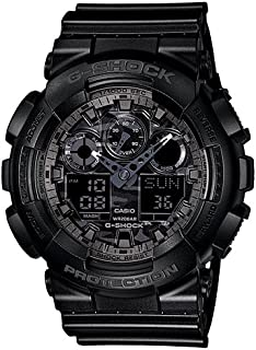 Casio Casual Watch Analog-Digital Display Quartz For Men Ga-100Cf-1A, Black Band