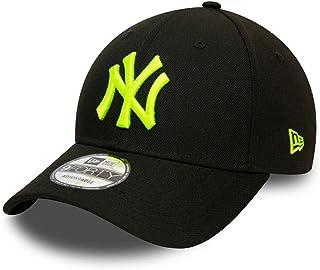 New Era York Yankees MLB Pop Logo Black Neon Yellow 9Forty Adjustable Snapback Cap