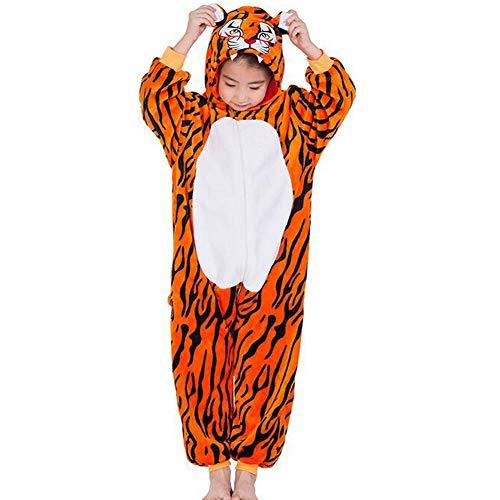 SHANGXIAN Childrens Tigre Pijamas Animales Onesies Disfraces Niños Ropa De Casa Ropa De Dormir,110