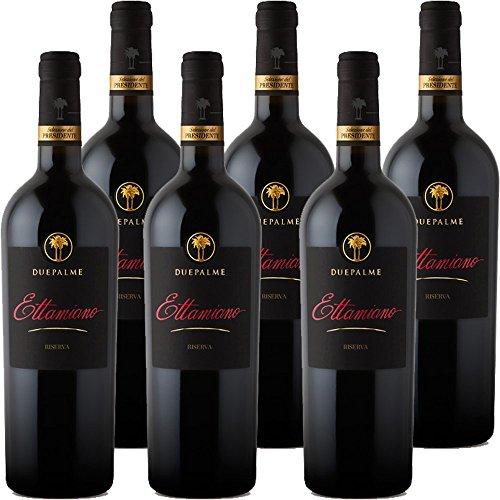 Primitivo di Manduria DOC Ettamiano | Cantina due Palme | Confezione 6 Bottiglie da 75 Cl | I Vini della Puglia | Idea Regalo