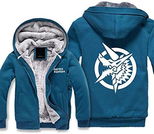 ZEDIYANJIN Sweatshirt Herren Pullover Jacke - Tide Monster Hunter Print Baseball Jersey Sweatshirt Warm Lässige Zip Langarm Herbst-Winter-Mantel (Color : -, Size : -)