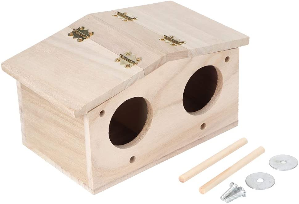 Okuyonic Bird House Breeding Nests Now free shipping Swallows Parrots for Wooden Award