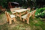 Larisa Stabil Gartentisch; unbehandeltem Erle Holz. 6 Bretter - 3