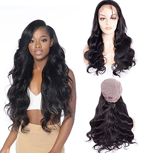 Maxine Hair Body Wave Lace Front Wigs with Baby Hair 180% Density Brazilian Glueless Body Wave Wigs Human Hair Wigs for Black Women Natural Color(20in