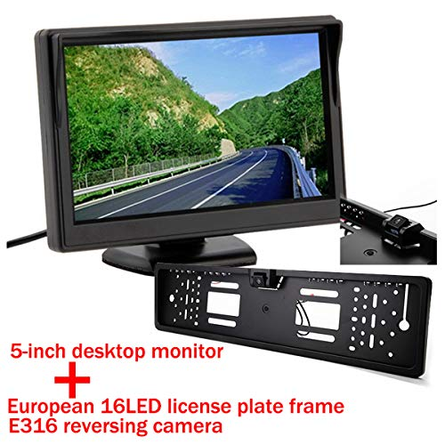 Universele E316 LED kentekenplaat frame PAL NTSC automatische achteruitrijcamera auto achteruitrijcamera parkeerplaats auto achteruitrijcamera voor DVD VCD achteruitrijcamera