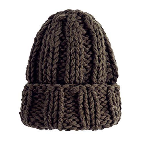 Damen strickmütze Mode Frauen warm halten Winter lässig Wolle säumen Hut ski Hut CICIYONER
