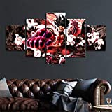 None brand 5 Piezas Gear Fourth Luffy One Piece Anime Poster Illustration Artwork Canvas Art Wall Paintings for Home Decor Wall Art-20x35 20x45 20x55cm Sin Marco
