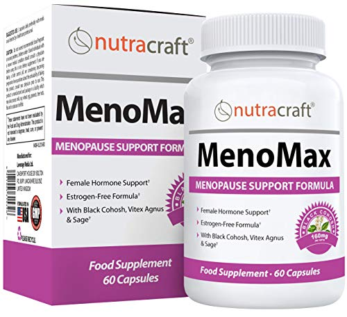 #1 Menopause Support Complex - 12-in-1 Black Cohosh Menopause Relief Supplement with Red Clover, Sage, Dong Quai, Vitex Agnus Castus & More | Natural Alternative to Estrogen Tablets - 1 Month Supply