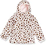 Amazon Essentials Lightweight Water-Resistant Packable Hooded Puffer Jacket Outerwear-Jackets, Animal Rosa, US L (EU 134-140 CM)