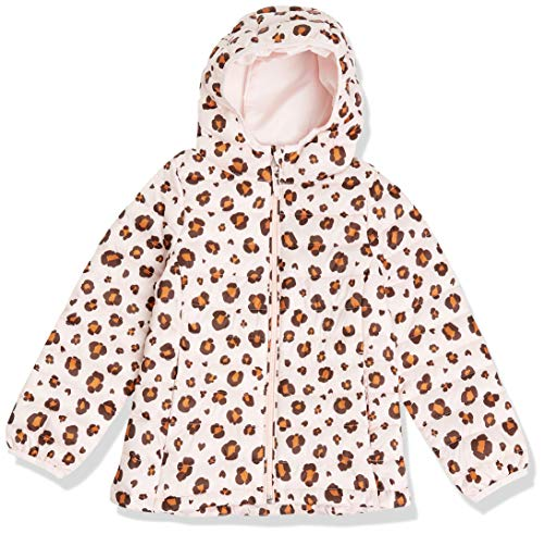 Amazon Essentials Lightweight Water-Resistant Packable Hooded Puffer Jacket Outerwear-Jackets, Animal Rosa, US M (EU 128 CM)