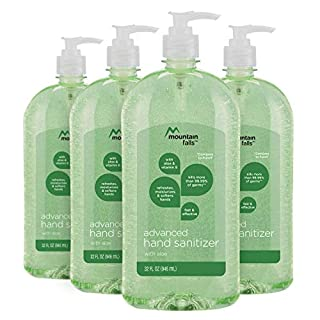 Mountain Falls Advanced Hand Sanitizer with Vitamin E and Aloe, Pump Bottle, 32 Fluid Ounce (Pack of 4) (B0719Q5JFR) | Amazon price tracker / tracking, Amazon price history charts, Amazon price watches, Amazon price drop alerts