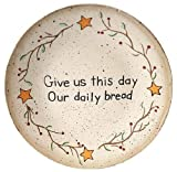 Set of 2 Hand Painted Give Us This Day Our Daily Bread Decorative Plate