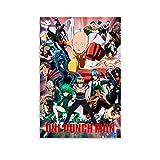 ASFASF One Punch Man Anime-Poster auf Leinwand, 30 x 45 cm