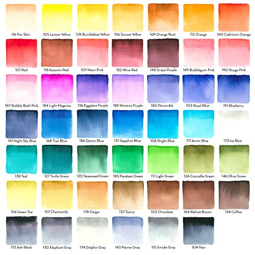 Arteza Real Brush Pens, 48 Colors for Watercolor Painting with Flexible Nylon Brush Tips, Paint Markers for Coloring, Calligraphy, Drawing with Water Brush, Art Supplies for Artists and Beginners Photo #4