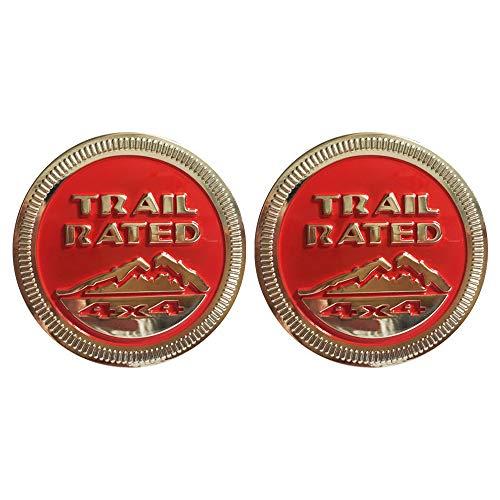 SXMA 1 para Snow Mountain Trail beoordeeld 4X4 metalen typeplaatje embleem badge sticker Snow Mountain logo auto sticker voor JEE p (rood)
